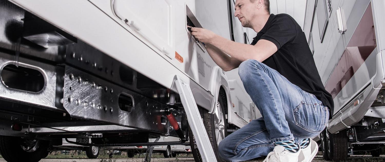 Reparatur und Service in unserer Werkstatt für Wohnwagen und Wohnmobil